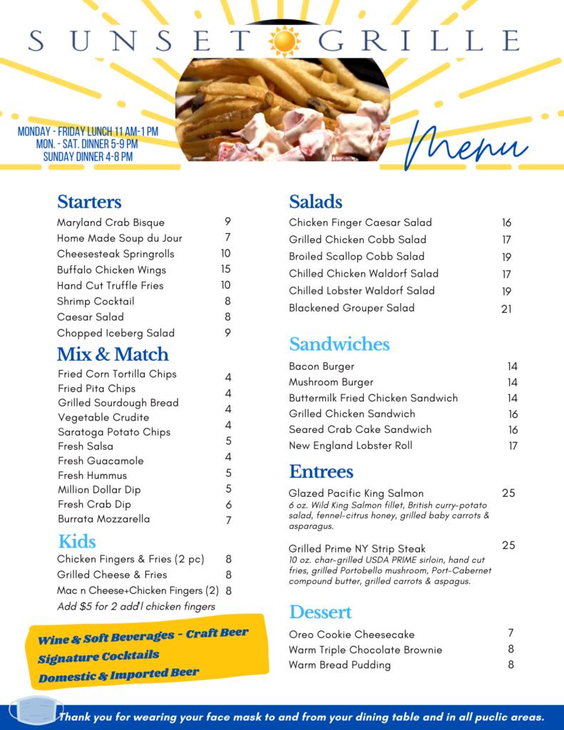 Lunch & Dinner Menu Desmond (Indoor Dining & Outdoor Dining)